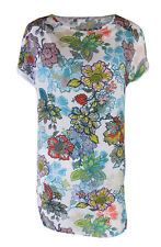 Ladies Top White Floral Tunic Top Short sleeve Blouse Ex Next NEW UK 10-20