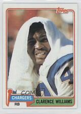 1981 Topps #509 Clarence Williams San Diego Chargers Football Card