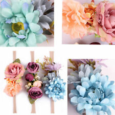 3pcs Newborn Kid Baby Girl Toddler Hair Band Headwear Accessory Headband Flower