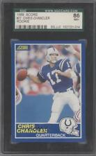 1989 Score #27 Chris Chandler SGC 86 Indianapolis Colts RC Rookie Football Card