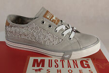 Mustang Lace Up Trainers Sports Shoes Low Shoes 1146 LIGHT GRAY NEW