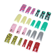 100/500pcs Assorted Acrylic Gel French Nail Art Tips Salon With Box Color Select