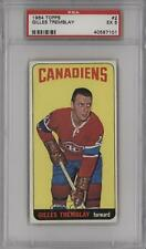 1964-65 Topps #2 Gilles Tremblay PSA 5 Montreal Canadiens Hockey Card