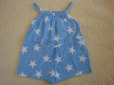 NWOT Mini Boden  1½ - 2Y Girls Jersey Romper Blue Stars