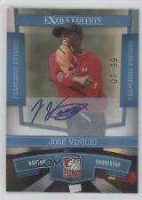 2010 Donruss Elite Extra Edition 68 Jose Vinicio Boston Red Sox Auto Rookie Card