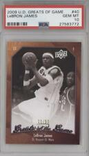 2009-10 Upper Deck Greats of the Game 50 #40 LeBron James PSA 10 Lebron Card