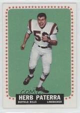 1964 Topps #33 Herb Paterra Buffalo Bills RC Rookie Football Card