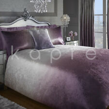 Luxury Crushed Velvet Ombre Duvet Quilt Cover Bedding Set Curtains Cushion Cover