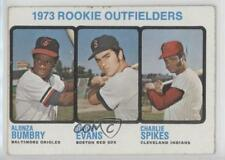 1973 Topps 614 Rookie Outfielders (Alonza Bumbry Dwight Evans Charlie Spikes) RC