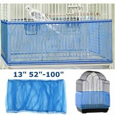 Size Large Seed Catcher Guard Mesh Bird Cage Cover Shell Skirt Traps Cage Basket