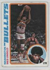 1978-79 Topps #7 Wes Unseld Washington Bullets Basketball Card