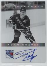 2011-12 Panini Certified Eternals Signatures Autographed 7 Adam Graves Auto Card