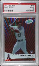 2011 eTopps #35 Mike Trout PSA 9 Los Angeles Angels Rookie Baseball Card