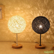Rattan twine ball LED Small Table lamp Desk lights Reading lamp Bedroom Lighting