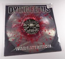DYING FETUS War Of Attrition LP CLEAR RED SPLATTER VINYL /300 misery index