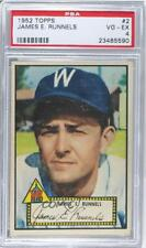 1952 Topps 2.1 James Runnels (Pete Runnels) (Red Back) PSA 4 Pete RC Rookie Card
