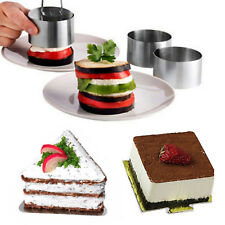 1x DIY Baking Cake Mold Stainless Steel Mousse Ring Mold Layer CutterBaking Tool