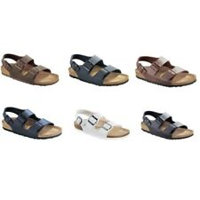 SALE Birkenstock Milano Sandals - Birko-Flor - white brown black blue