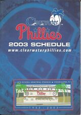 2003 CLEARWATER PHILLIES BASEBALL POCKET SCHEDULE