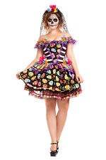 Sugar Skull Senorita Day of the Dead ADULT Womens Costume NEW PLUS SIZE