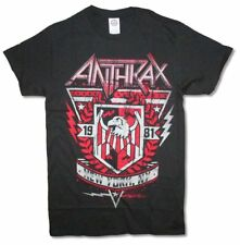 Anthrax 1981 Crest New York NY Black T Shirt New Official Band Merch