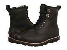 NEW UGG MEN BOOT HANNEN TL BLACK LEATHER WEATHER RATED 20°C WATERPROOF ORG 8139M
