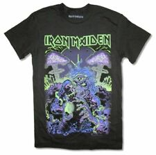 Iron Maiden Radioactive Glow In The Dark Ed Black T Shirt New Official Merch