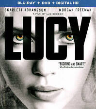 Lucy (Blu-ray/DVD, 2015, 2-Disc Set) w/ Case - Very Good - Free Shipping