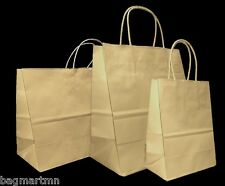 Mixed Medium Sizes Kraft Brown Paper Retail Gift Rope Handle Tote Shopping Bags