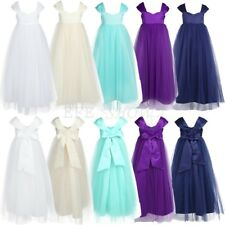Kids Princess Party Dresses Wedding Bridesmaid Formal Pageant Flower Girl Dress