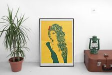 Amy Winehouse 'Tears Dry on Their Own' Illustrated Art Print Poster