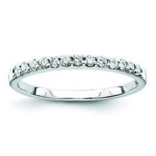 Sterling Silver Sterling Silver Belle Amore Diamond Wedding Band Ring QR3456