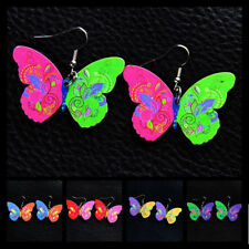 Pendant 1 Pair Butterfly Painted Women Jewelry Earrings Cute New Fashion Acrylic