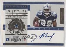 2011 Playoff Contenders #231.1 DeMarco Murray (Base) Dallas Cowboys Auto RC Card
