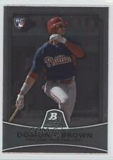 2010 Bowman Platinum #6 Domonic Brown Philadelphia Phillies RC Baseball Card