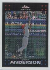 2007 Topps Chrome X-Fractor 244 Garret Anderson Los Angeles Angels Baseball Card