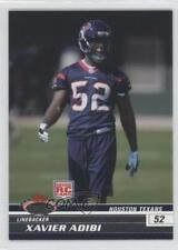 2008 Topps Stadium Club #186 Xavier Adibi Houston Texans RC Rookie Football Card