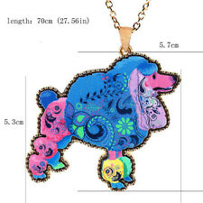 Women Acrylic Poodle Cute Long Colorful Pendant 1 Pcs Sweater Chain Necklace