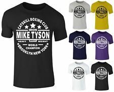 Mens Legend Mike Tyson Catskill Boxing Training Gym Cotton Crew Neck T-shirt Top