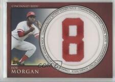 2012 Topps Manufactured Retired Number Patch #RN-JM Joe Morgan Cincinnati Reds