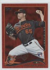 2014 Topps Red Hot Foil 516 Mike Belfiore Baltimore Orioles Rookie Baseball Card