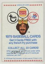 1979 Topps Burger King Restaurant New York Yankees #CHEC Checklist Baseball Card