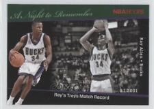 2011 NBA Hoops A Night to Remember #14 Ray Allen Milwaukee Bucks Basketball Card