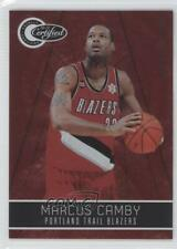 2010-11 Totally Certified Red #140 Marcus Camby Portland Trail Blazers Card
