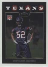 2008 Topps Chrome #TC254 Xavier Adibi Houston Texans RC Rookie Football Card
