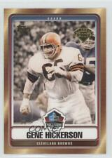 2007 Topps Hall of Fame #HOF-GH Gene Hickerson Cleveland Browns Football Card
