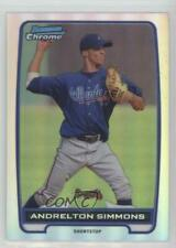 2012 Bowman Chrome Prospects Refractor #BCP109 Andrelton Simmons Atlanta Braves