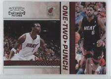 2010-11 Playoff Contenders Patches One-Two Punch 11 Chris Bosh Lebron James Card