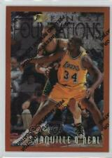 1996-97 Topps Finest Refractor #243 Shaquille O'Neal Los Angeles Lakers Card