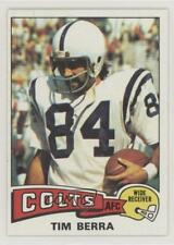 1975 Topps #301 Tim Berra Baltimore Colts RC Rookie Football Card